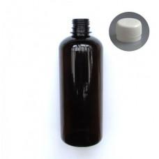 Liekovka 500 ml hnedá +uzáver Klasik biely.,