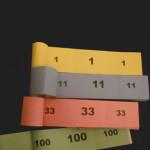 Trhací blok s číslami na zarábané prípravky 100ks