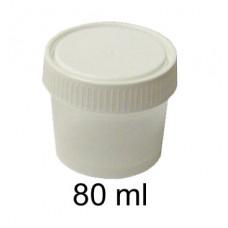 Kelímok na masť 80ml biely+ uzáver skrutkovací.