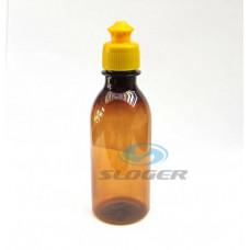 Liekovka 200 ml plast+uzáver PUSH-PULL žltý